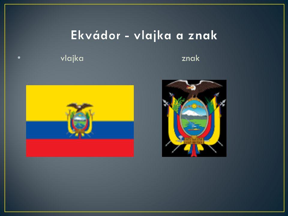 Ekvádor - vlajka a znak vlajka znak