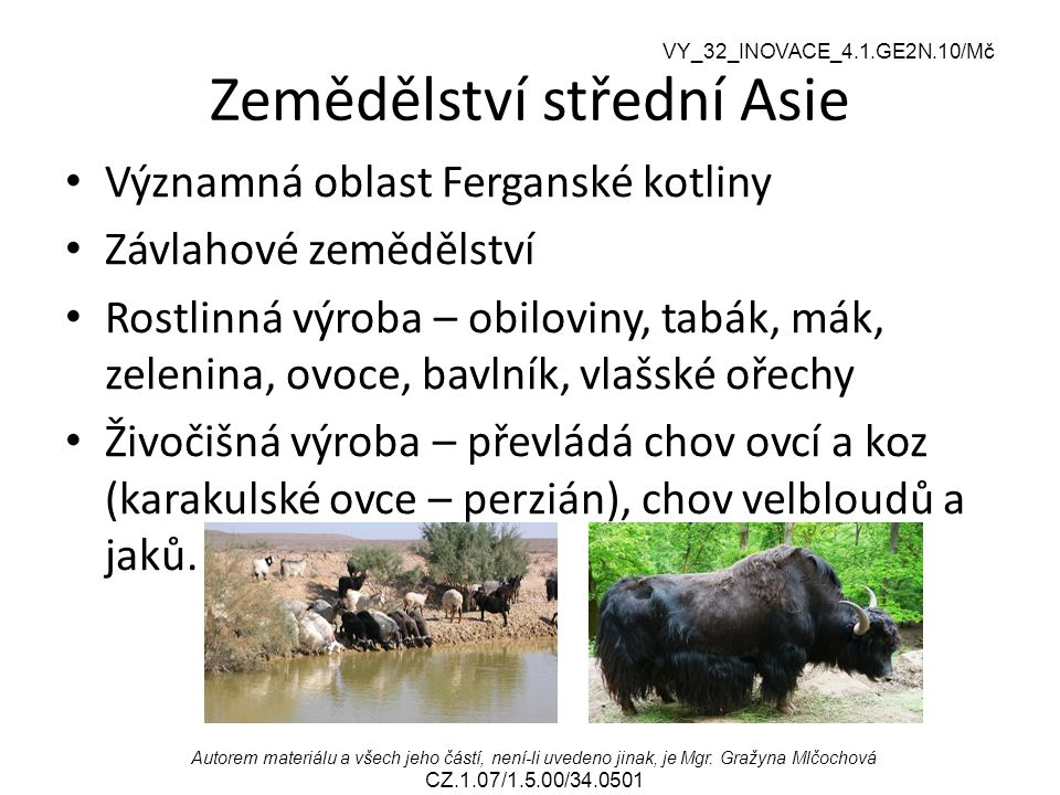 Zemědělství střední Asie