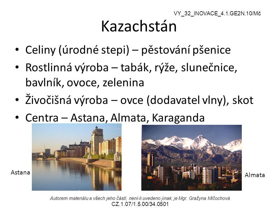 Kazachstán Celiny (úrodné stepi) – pěstování pšenice