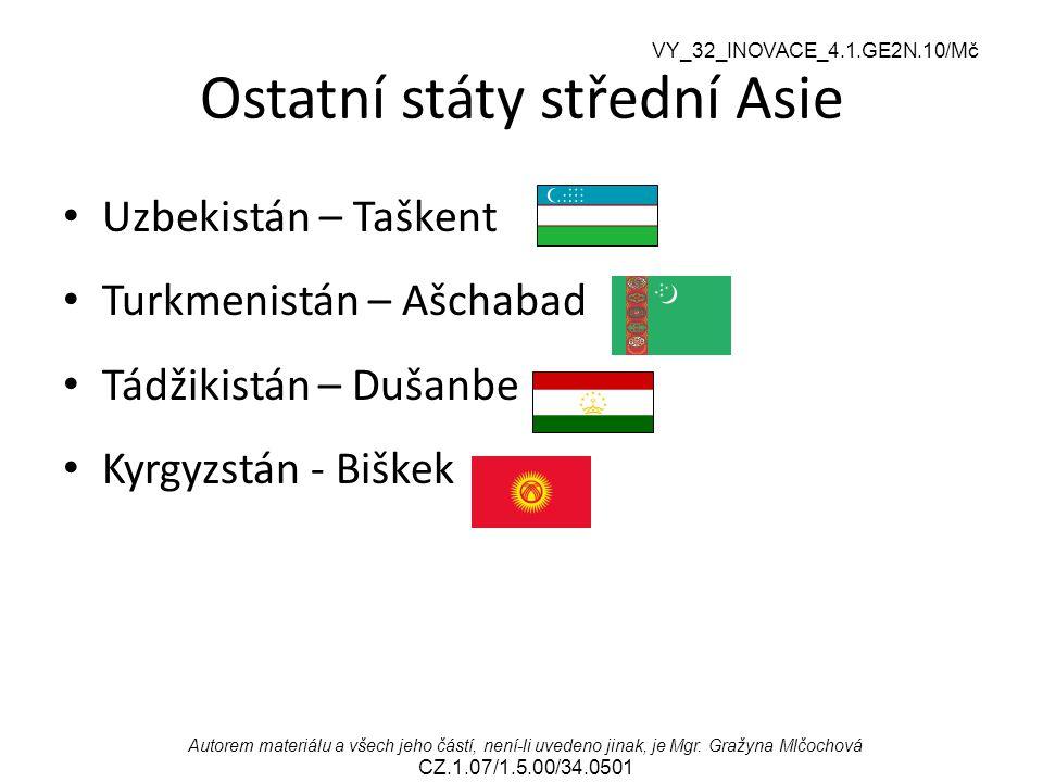 Ostatní státy střední Asie