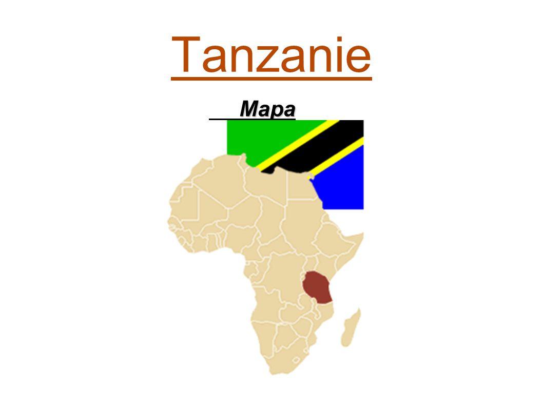 Tanzanie Mapa