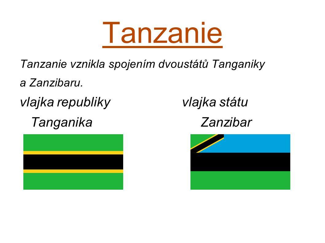 Tanzanie vlajka republiky vlajka státu Tanganika Zanzibar