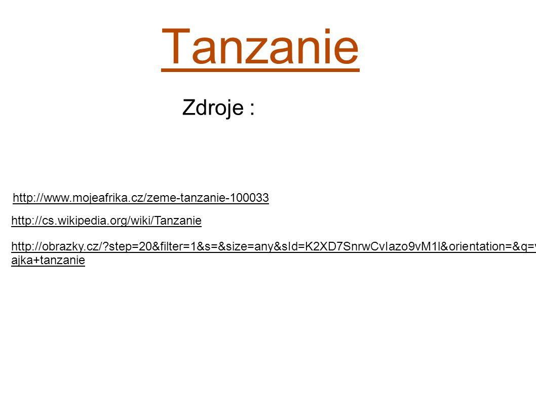 Tanzanie Zdroje : http://www.mojeafrika.cz/zeme-tanzanie-100033