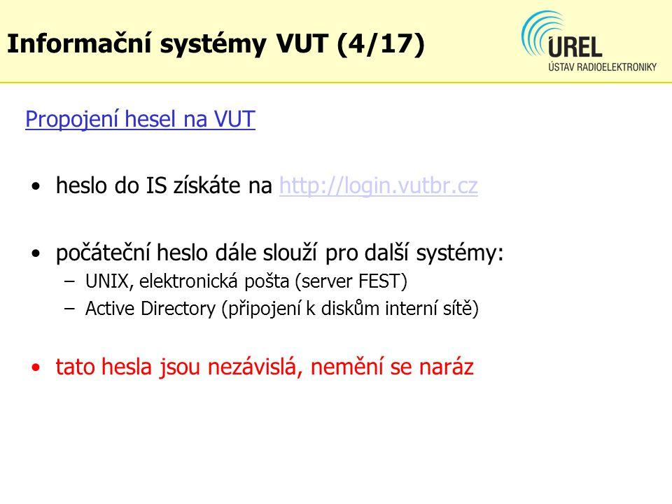 Informační systémy VUT (4/17)