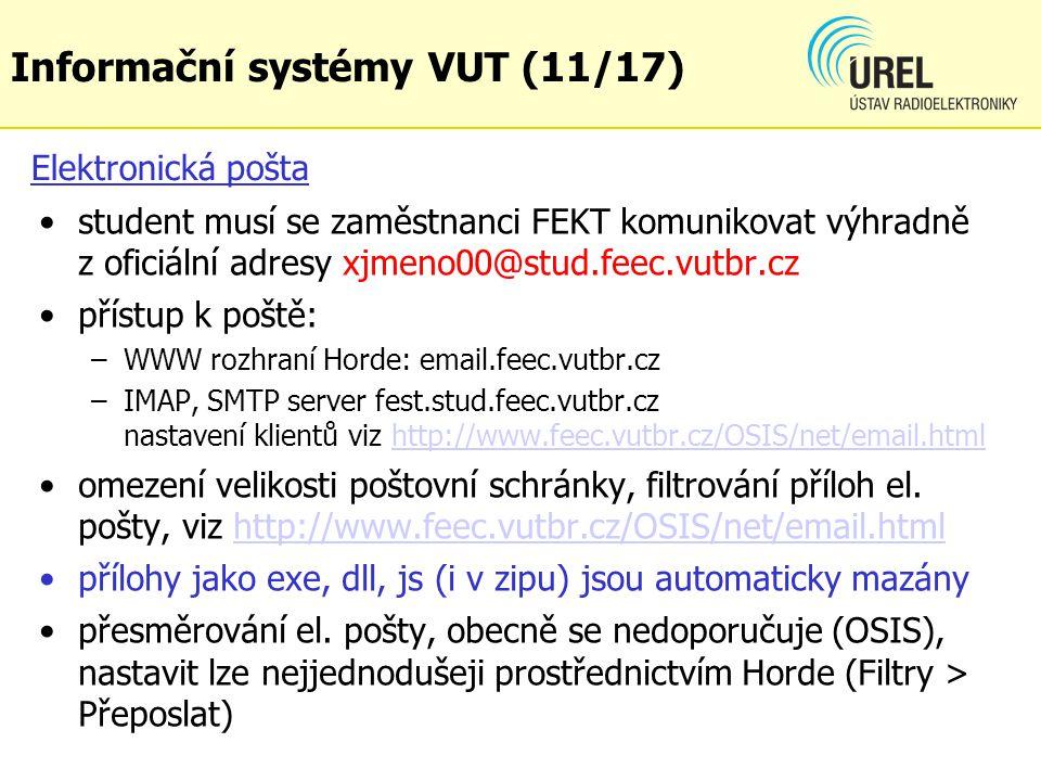Informační systémy VUT (11/17)