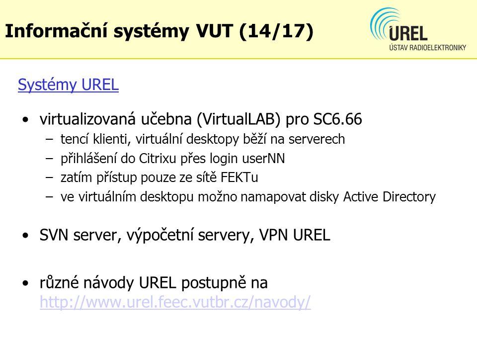 Informační systémy VUT (14/17)