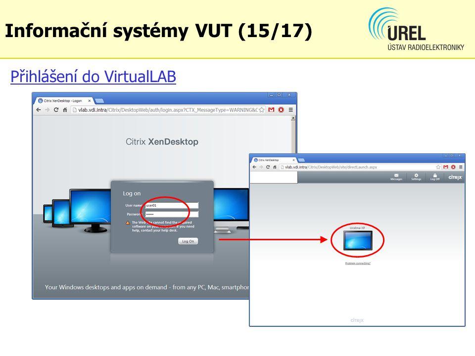 Přihlášení do VirtualLAB