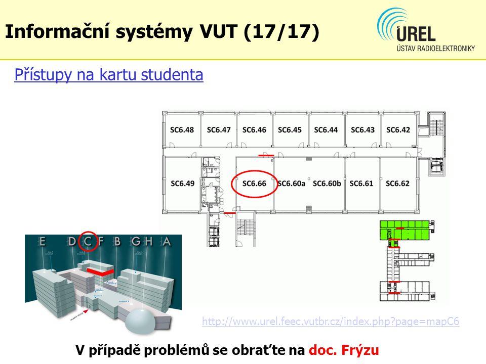 Přístupy na kartu studenta