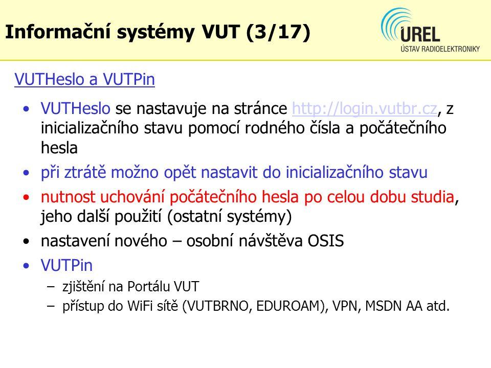 Informační systémy VUT (3/17)