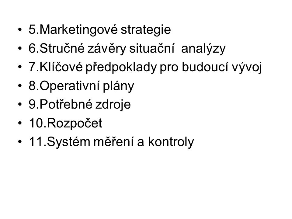 5.Marketingové strategie