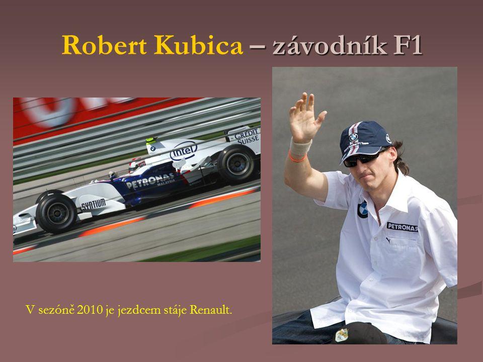 Robert Kubica – závodník F1