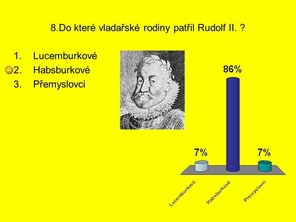 8.Do které vladařské rodiny patřil Rudolf II.