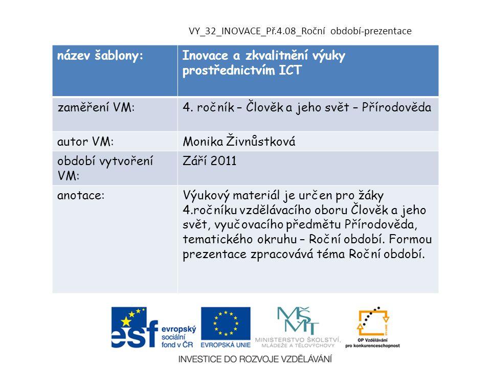 Inovace a zkvalitnění výuky prostřednictvím ICT