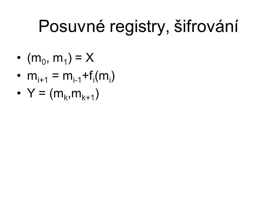 Posuvné registry, šifrování