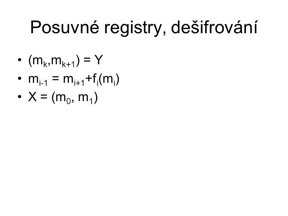 Posuvné registry, dešifrování