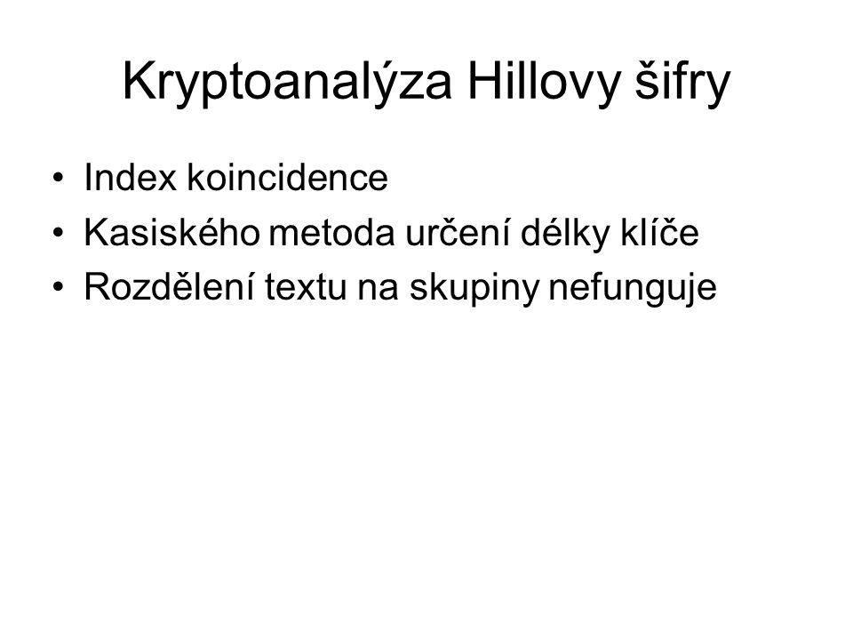Kryptoanalýza Hillovy šifry