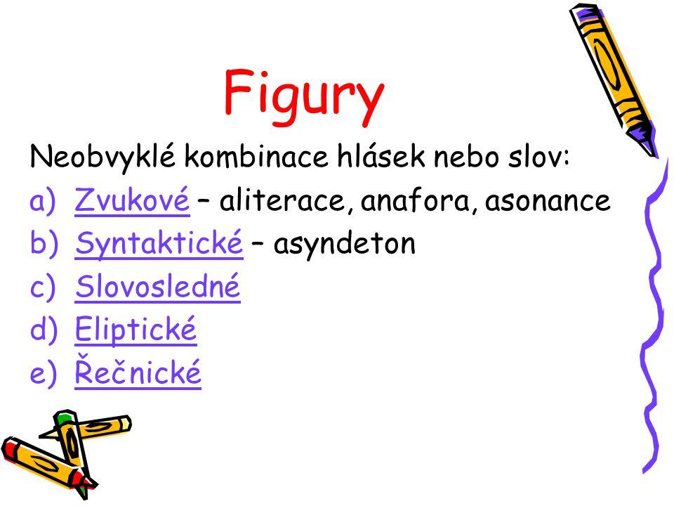 Figury Neobvyklé kombinace hlásek nebo slov: