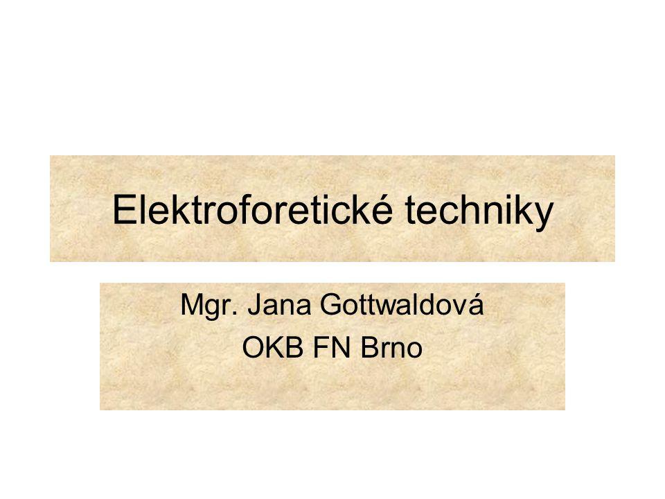 Elektroforetické techniky