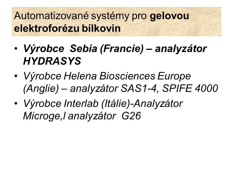 Automatizované systémy pro gelovou elektroforézu bílkovin