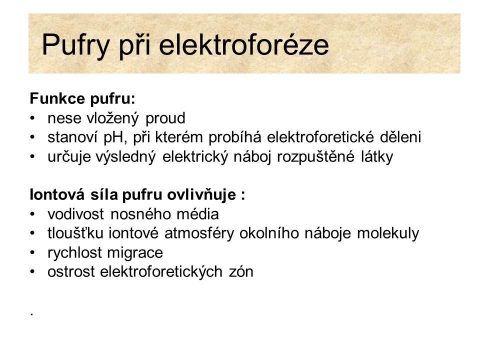 Pufry při elektroforéze