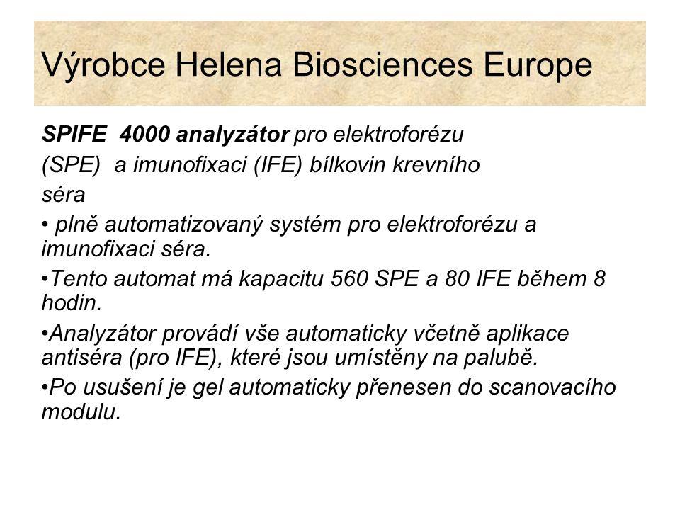 Výrobce Helena Biosciences Europe