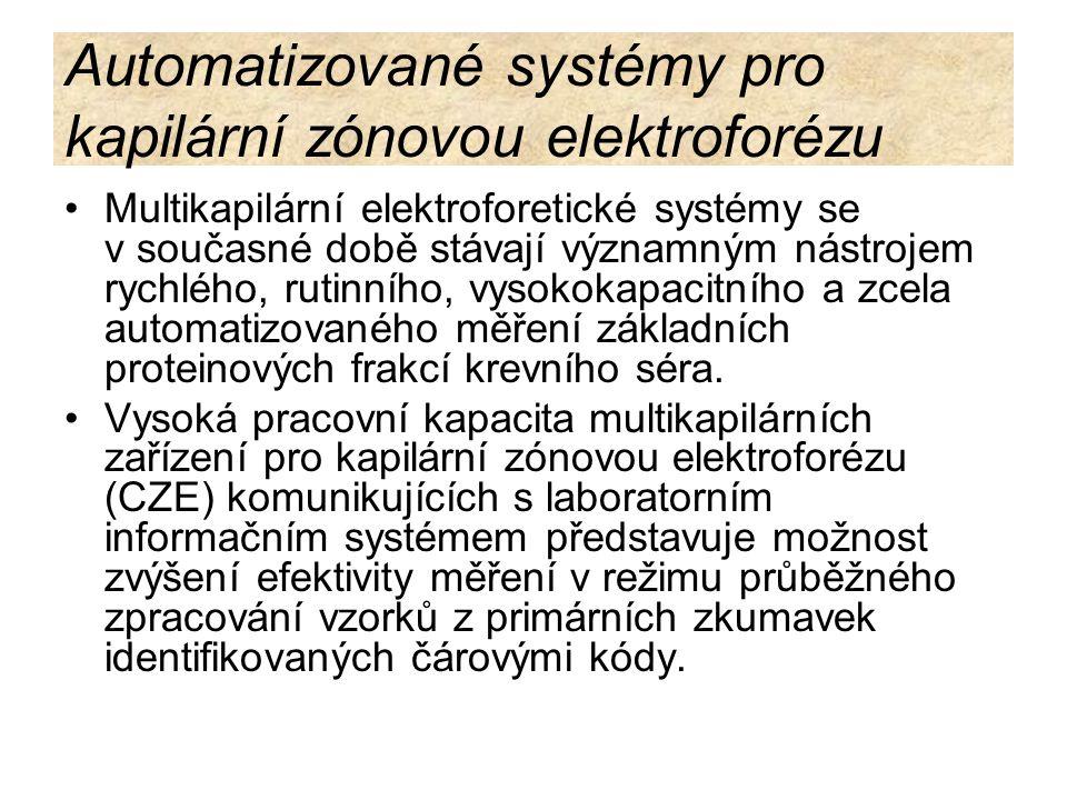 Automatizované systémy pro kapilární zónovou elektroforézu