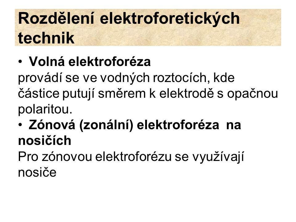 Rozdělení elektroforetických technik