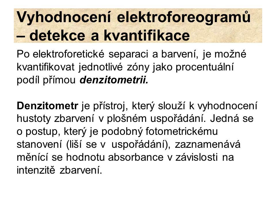 Vyhodnocení elektroforeogramů – detekce a kvantifikace