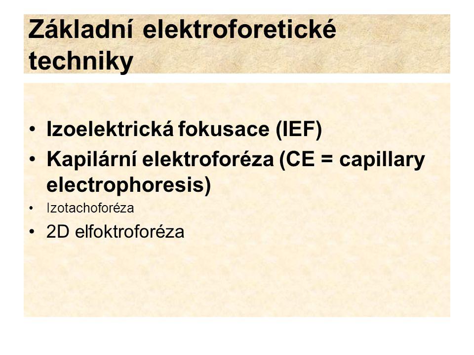 Základní elektroforetické techniky