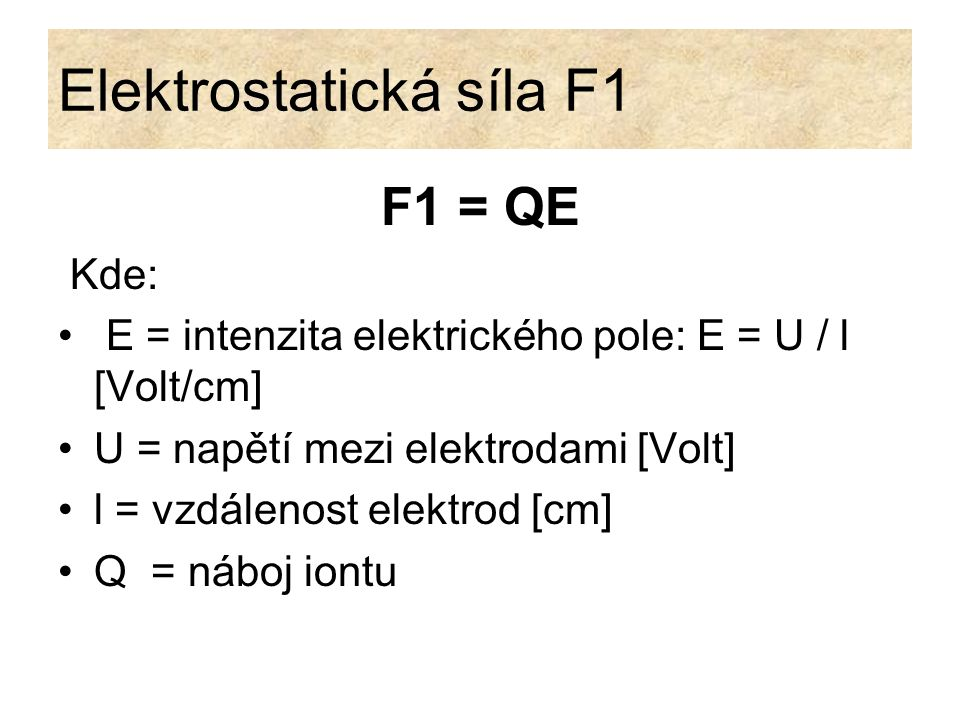 Elektrostatická síla F1