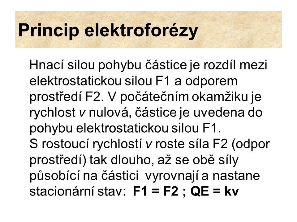 Princip elektroforézy