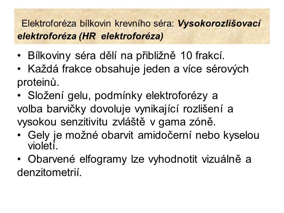 Elektroforéza bílkovin krevního séra: Vysokorozlišovací elektroforéza (HR elektroforéza)