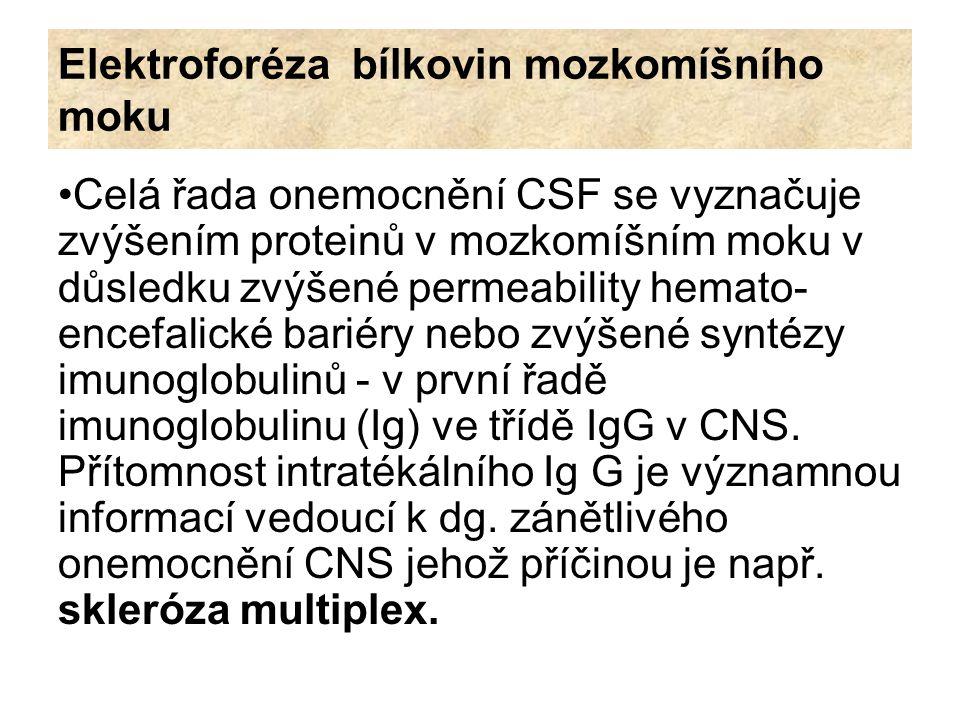 Elektroforéza bílkovin mozkomíšního moku