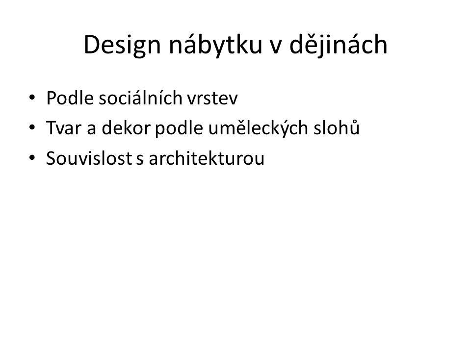 Design nábytku v dějinách