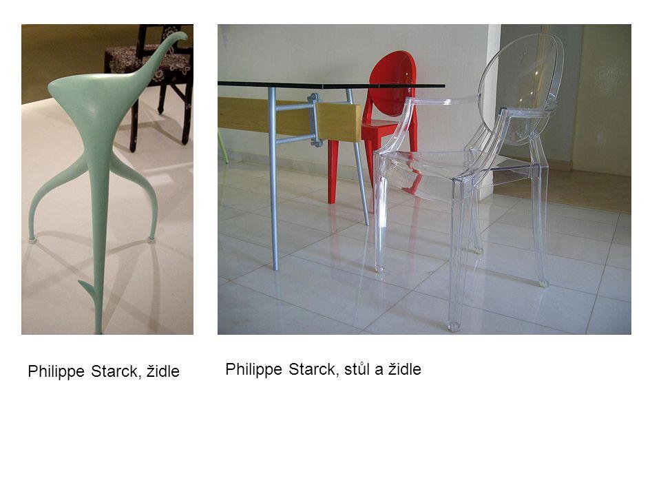 Philippe Starck, židle Philippe Starck, stůl a židle