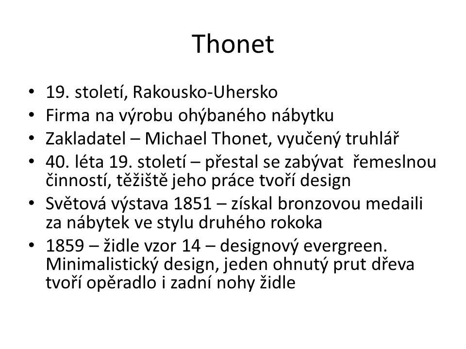 Thonet 19. století, Rakousko-Uhersko Firma na výrobu ohýbaného nábytku