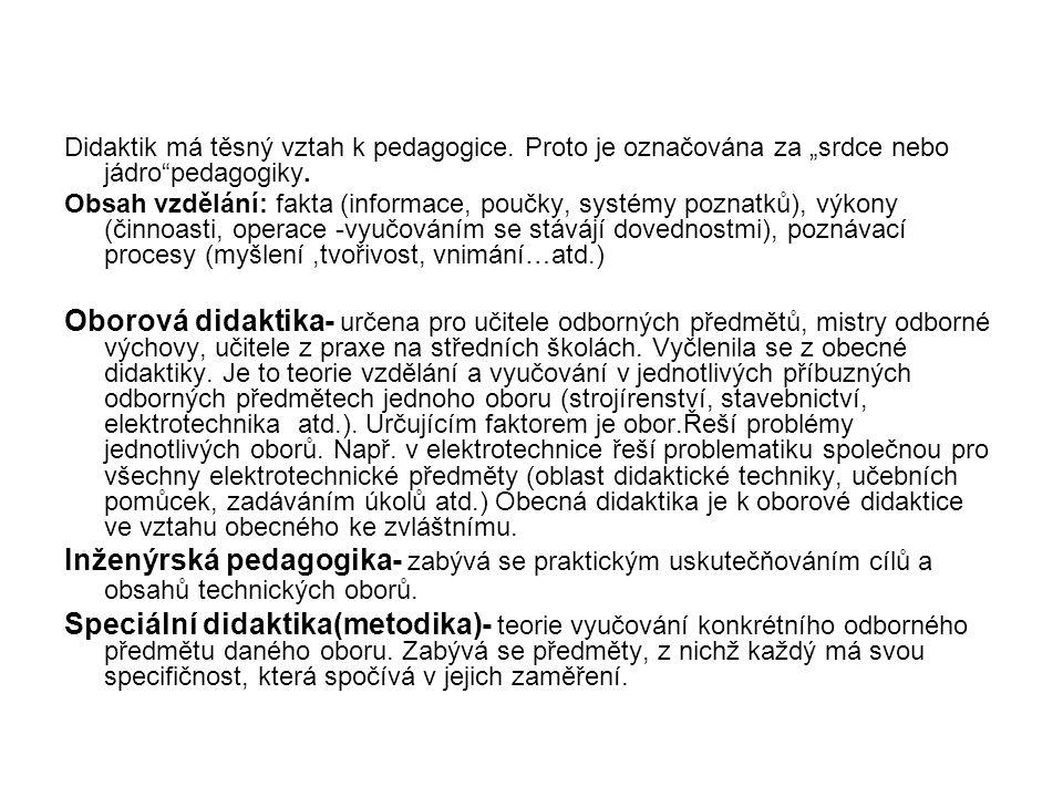Didaktik má těsný vztah k pedagogice