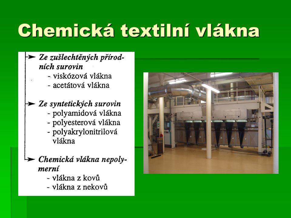 Chemická textilní vlákna