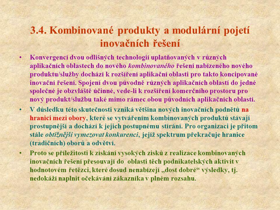 3.4. Kombinované produkty a modulární pojetí inovačních řešení