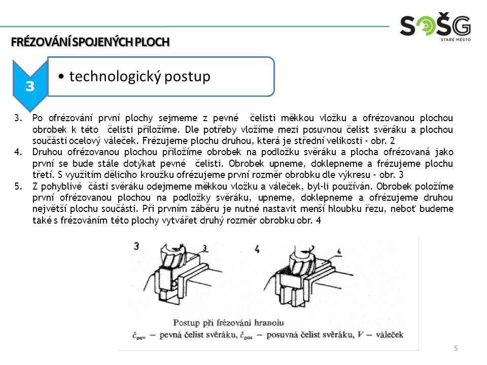 technologický postup FRÉZOVÁNÍ SPOJENÝCH PLOCH 3