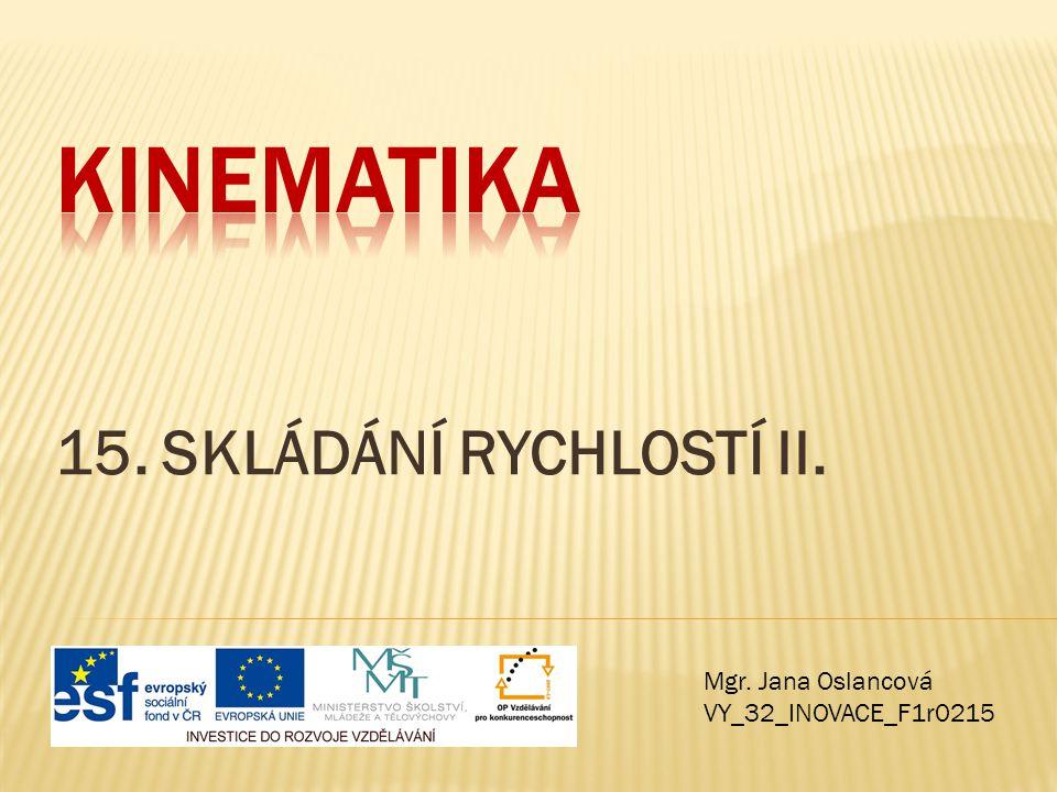 Kinematika 15. SKLÁDÁNÍ RYCHLOSTÍ II. Mgr. Jana Oslancová