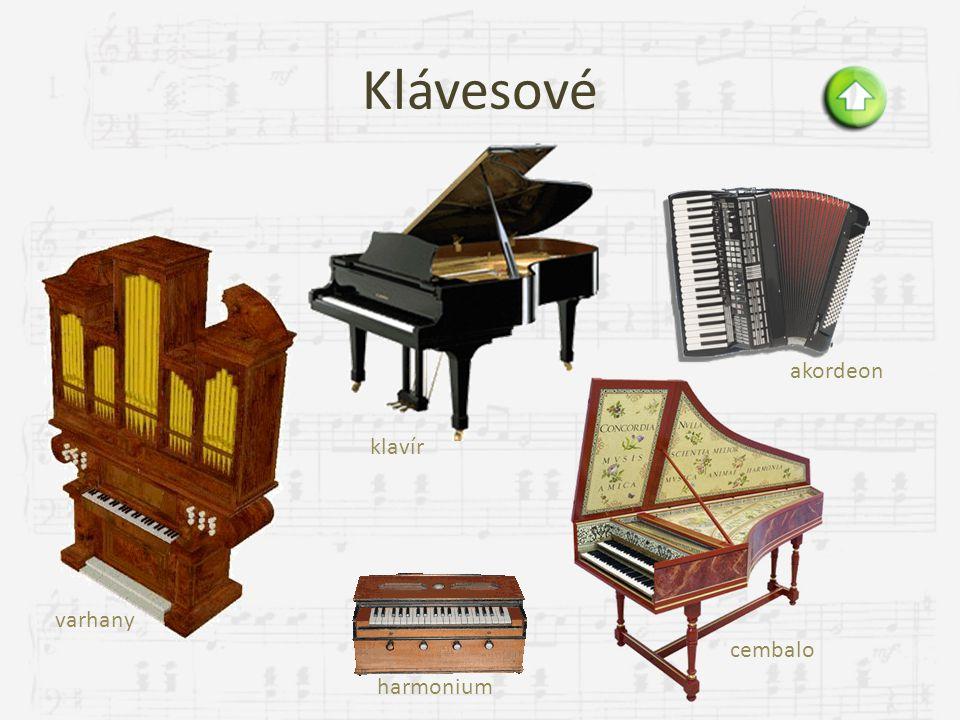 Klávesové akordeon klavír varhany cembalo harmonium