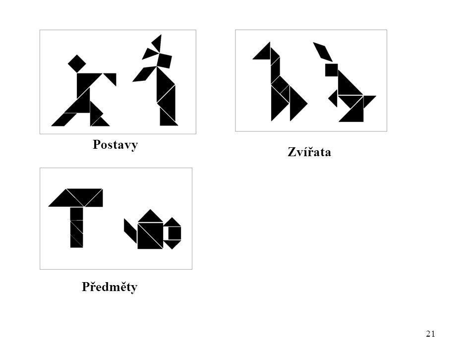Postavy Zvířata Předměty