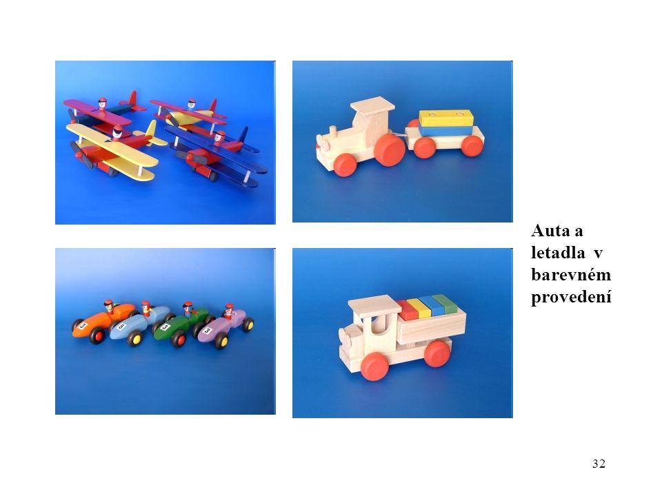 Auta a letadla v barevném provedení