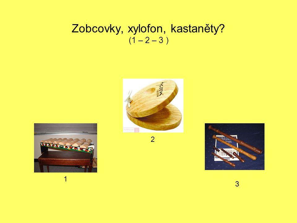 Zobcovky, xylofon, kastaněty (1 – 2 – 3 )