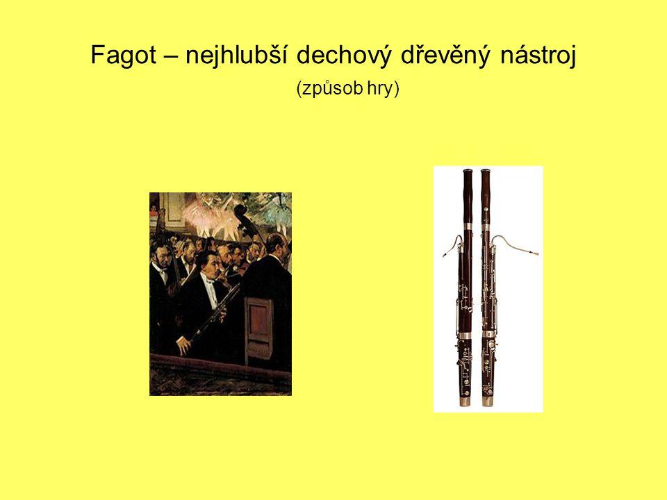 Fagot – nejhlubší dechový dřevěný nástroj (způsob hry)