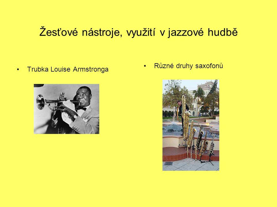 Žesťové nástroje, využití v jazzové hudbě