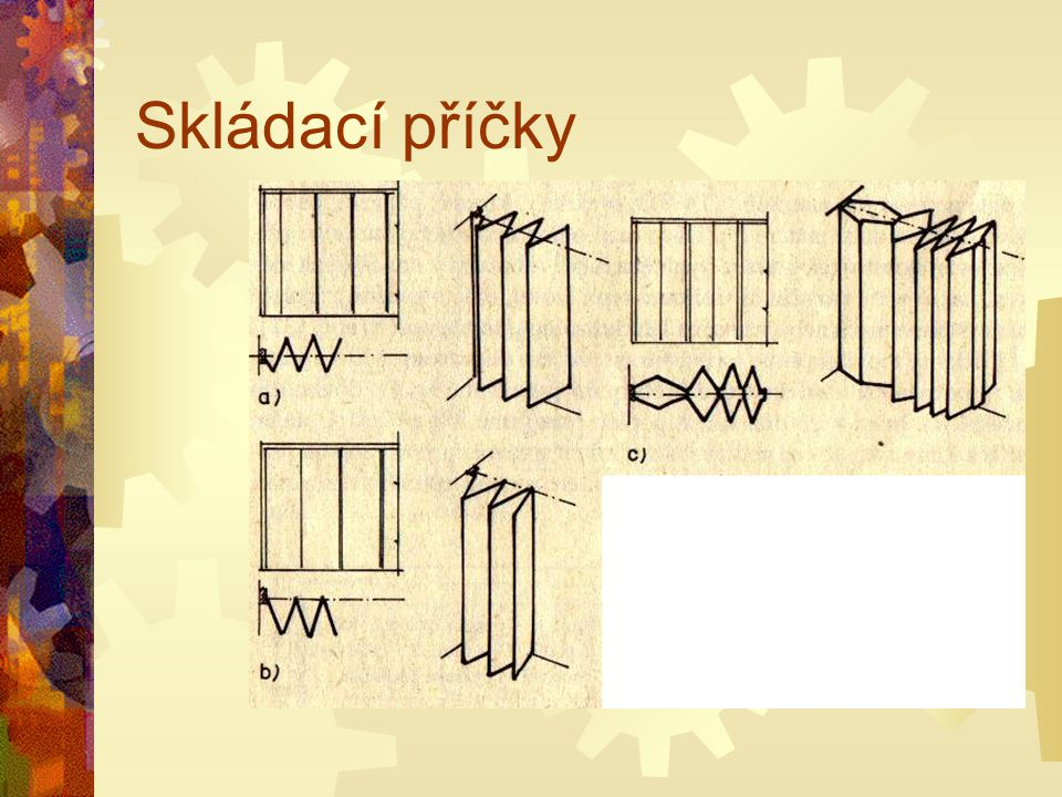 Skládací příčky Obr. 131 Skládací stěny