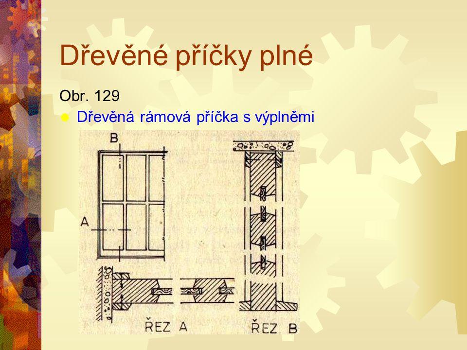 Dřevěné příčky plné Obr. 129 Dřevěná rámová příčka s výplněmi