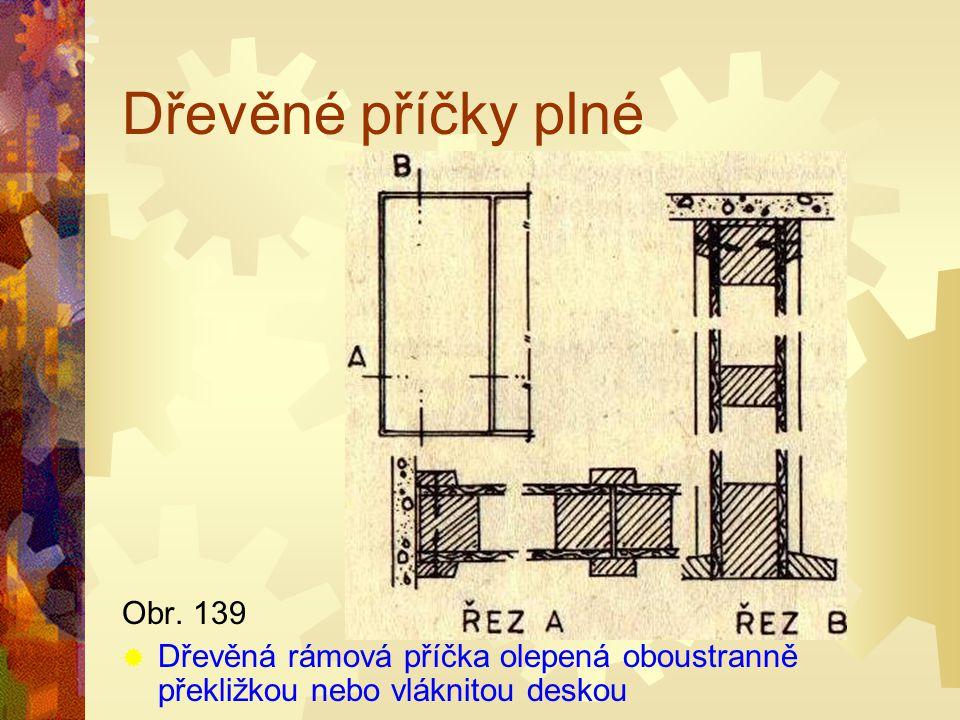 Dřevěné příčky plné Obr. 139